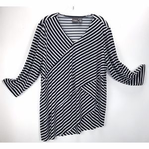 Travelers by Chicos Layer Asymmetrical Blouse Top